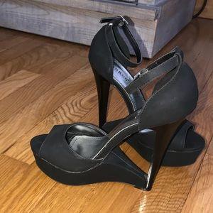 Black High Heels Size 6.5
